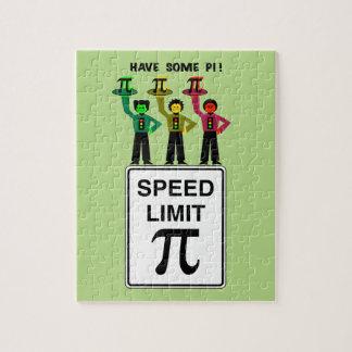 Moody Stoplight Trio On Speed Lim Pi Sign wCaption Jigsaw Puzzle