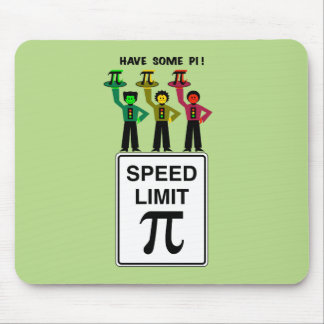 Moody Stoplight Trio On Speed Lim Pi Sign wCaption Mouse Pad