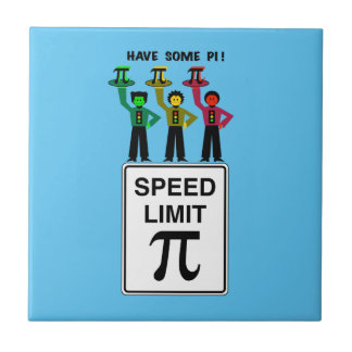 Moody Stoplight Trio On Speed Lim Pi Sign wCaption Tile
