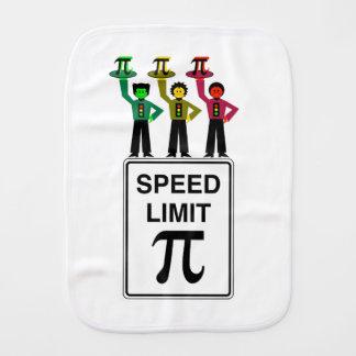 Moody Stoplight Trio On Speed Limit Pi Sign Burp Cloth