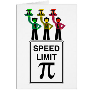 Moody Stoplight Trio On Speed Limit Pi Sign Card