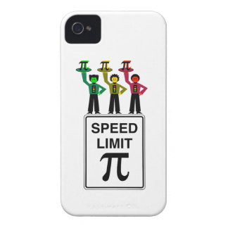 Moody Stoplight Trio On Speed Limit Pi Sign iPhone 4 Cases