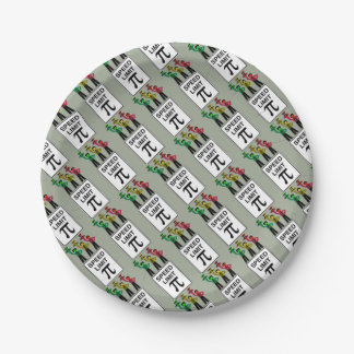 Moody Stoplight Trio On Speed Limit Pi Sign Paper Plate