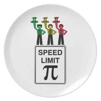 Moody Stoplight Trio On Speed Limit Pi Sign Plate