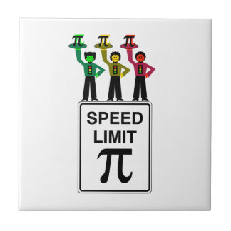 Moody Stoplight Trio On Speed Limit Pi Sign Tile