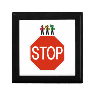 Moody Stoplight Trio On Stop Sign Gift Box