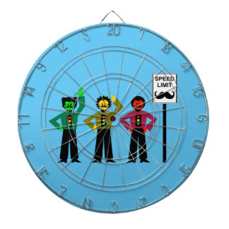 Moody Stoplight Trio Speed Limit Mustachio Dartboard