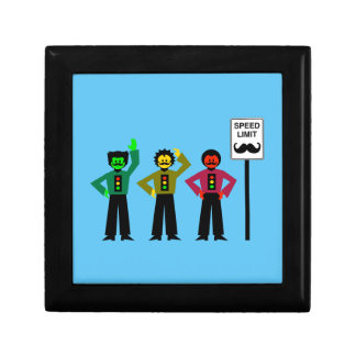 Moody Stoplight Trio Speed Limit Mustachio Gift Box