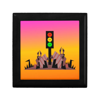 Moody Stoplight with Bunnies, Dreamy Background Gift Box