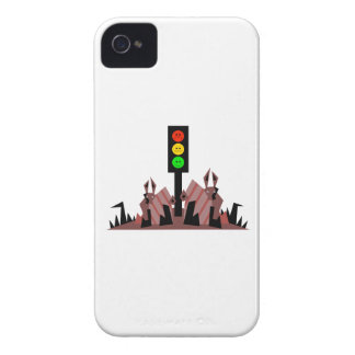 Moody Stoplight with Bunnies iPhone 4 Covers