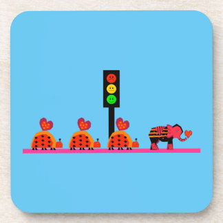 Moody Stoplight with Heart Caravan Coaster