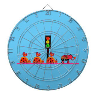 Moody Stoplight with Heart Caravan Dartboard