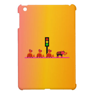 Moody Stoplight with Heart Caravan, Dreamy Backgnd iPad Mini Case