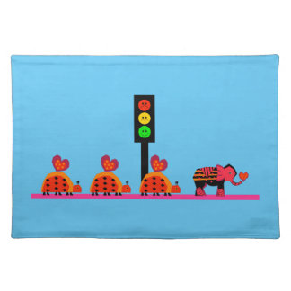 Moody Stoplight with Heart Caravan Placemat