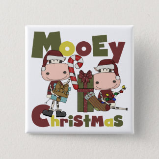 Mooey Christmas 15 Cm Square Badge