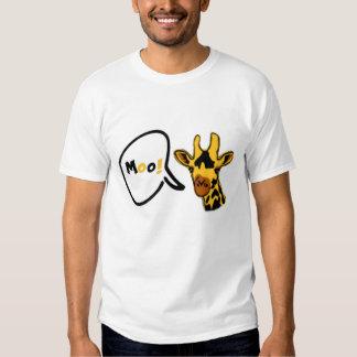 Mooing giraffe ! t-shirts