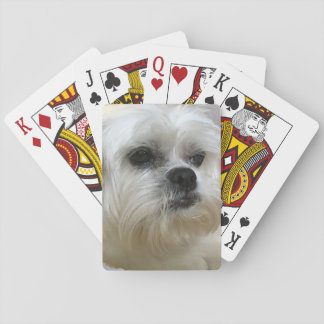 Mookee the Lhasa Apso Dog Playing Cards