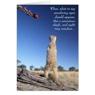 Moomins with Santa - Seasons greetings 1 Card