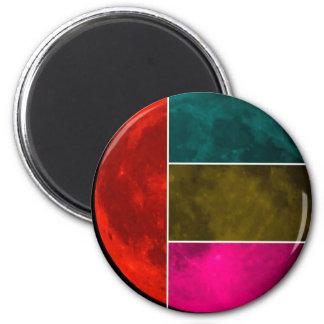 Moon 6 Cm Round Magnet