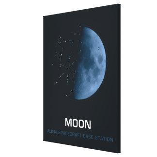 MOON, Alien. Spacecraft. Base. Station Canvas Print