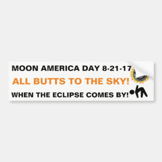 Moon America Bumper Sticker