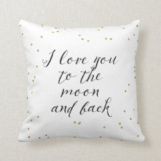 Moon and Back Gold Confetti Cushions