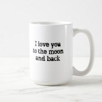 Moon and Back Mug--Black Lettering Coffee Mug