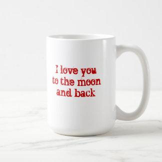 Moon and Back Mug--Red Writing Coffee Mug