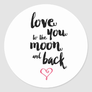 Moon and Back | Valentine's Day Sticker