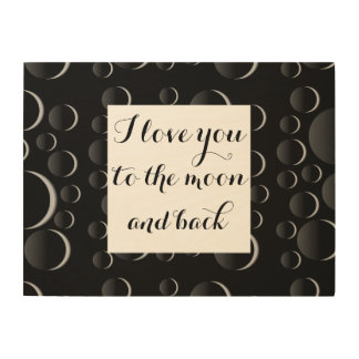 Moon and Back... Wood Canvas