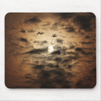 Moon and Cirrus Clouds Mouse Pads