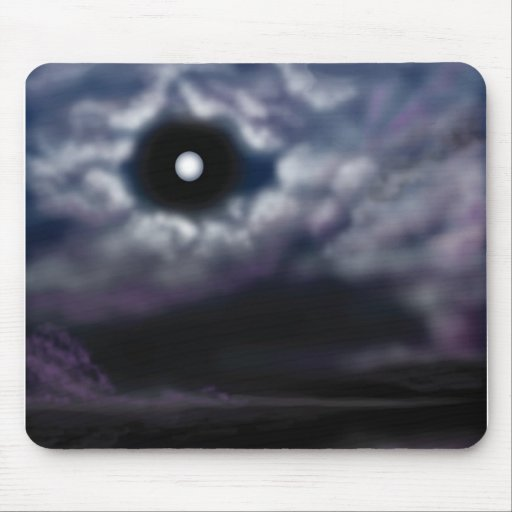 Moon and Clouds Mouse Pad