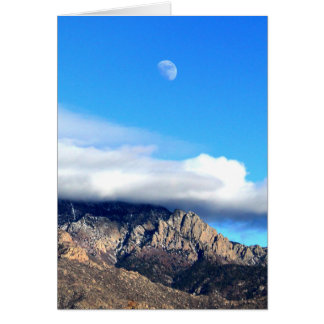 Moon and Clouds Over Sandias Card