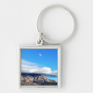 Moon and Clouds Over Sandias Key Ring