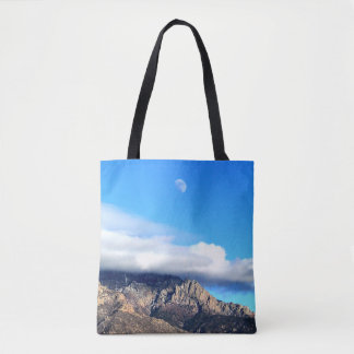 Moon and Clouds Over Sandias Tote Bag
