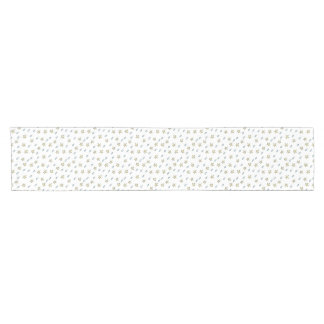 Moon and cloudy stars short table runner