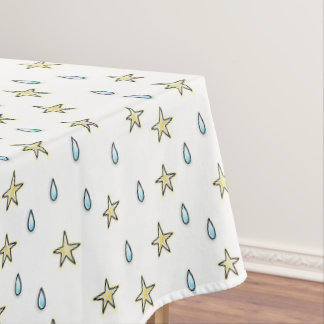 Moon and cloudy stars tablecloth
