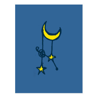 Moon and Hanging Stars Postcards