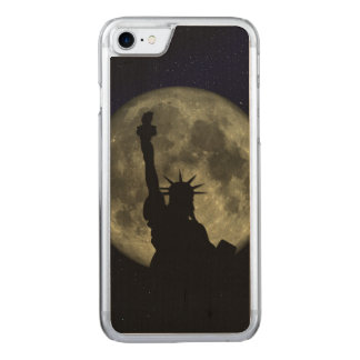 Moon and Lady Liberty Carved iPhone 8/7 Case