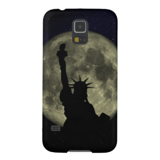 Moon and Lady Liberty Galaxy S5 Covers
