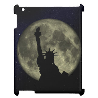 Moon and Lady Liberty iPad Cover
