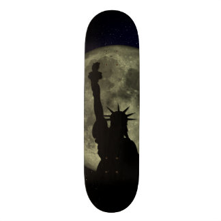 Moon and Lady Liberty Skate Board