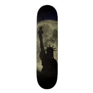 Moon and Lady Liberty Skate Deck