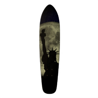 Moon and Lady Liberty Skateboards