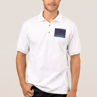 moon and man and steps polo shirt