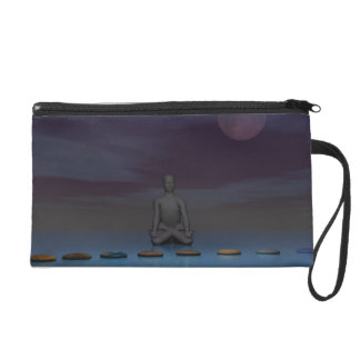 moon and man and steps wristlet