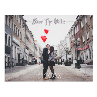 Moon And Raven Watercolor Wedding Save The Date Postcard
