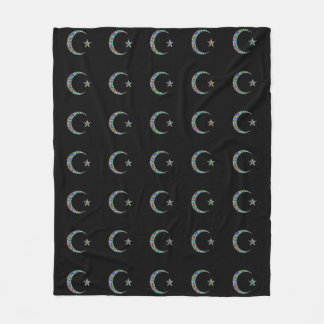 Moon and Star Fleece Blanket