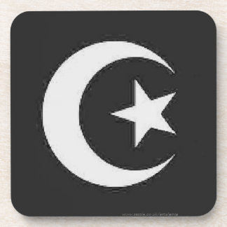 Moon and Star Islamic Beverage Coasters