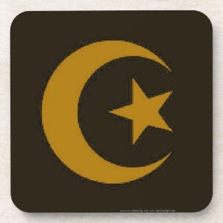 Moon and Star Islamic Drink Coasters